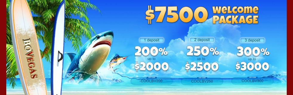 Get up to $7500 when you make your first 3 deposits at BoVegas